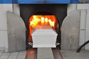 Coffin-crematorium