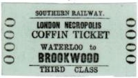 London Necropolis Coffin Ticket