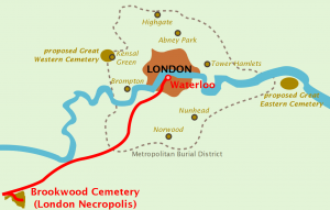 London Necropolis Railway and boundaries