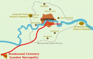 London Necropolis Railway and boundaries